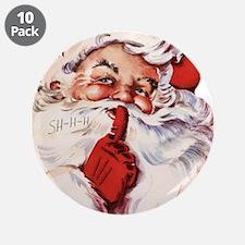 """Vintage Santa 3.5"""" Button (10 pack)"""