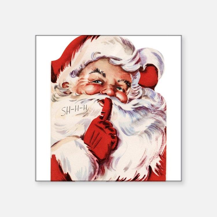 "Vintage Santa Square Sticker 3"" x 3"""