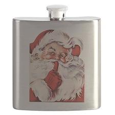 Vintage Santa Flask