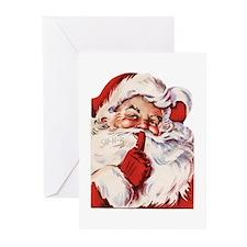 Vintage Santa Greeting Cards (Pk of 10)