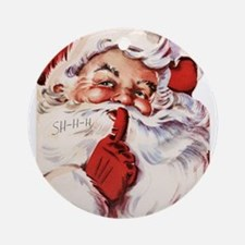 Vintage Santa Ornament (Round)