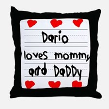 Dario Loves Mommy and Daddy Throw Pillow