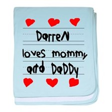 Darren Loves Mommy and Daddy baby blanket