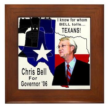 Chris Bell, TX GOV Framed Tile