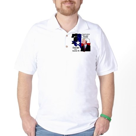 Chris Bell, TX GOV Golf Shirt