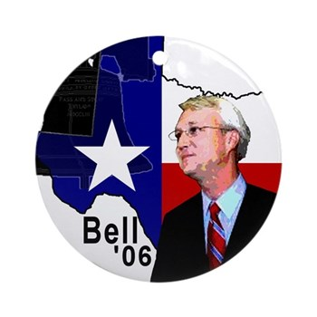 Chris Bell, TX GOV Ornament (Round)