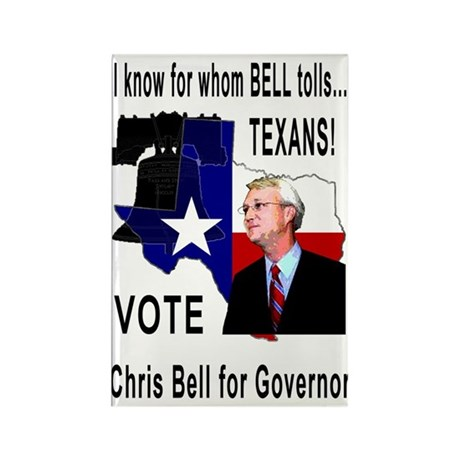 Chris Bell, TX GOV Rectangle Magnet (10 pack)