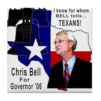 Chris Bell, TX GOV Tile Coaster