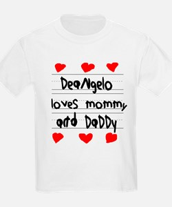Deangelo Loves Mommy and Daddy T-Shirt