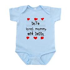 Deja Loves Mommy and Daddy Infant Bodysuit