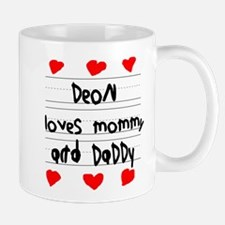 Deon Loves Mommy and Daddy Mug