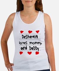 Deshawn Loves Mommy and Daddy Women's Tank Top