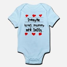 Dwayne Loves Mommy and Daddy Infant Bodysuit