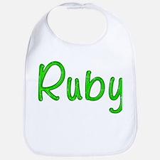 Ruby Glitter Gel Bib