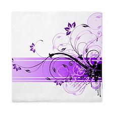 purple floral band Queen Duvet