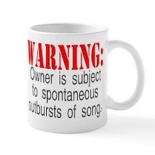 warning burst of songs Mugs