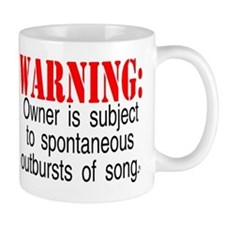 warning burst of songs Mugs
