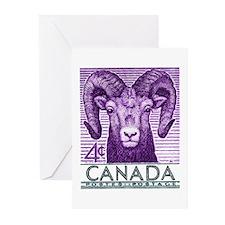 1953 Canada Bighorn Sheep Postage Stamp Greeting C
