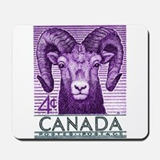1953 Canada Bighorn Sheep Postage Stamp Mousepad