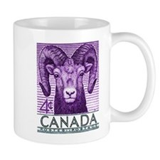 1953 Canada Bighorn Sheep Postage Stamp Mug