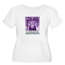 1953 Canada Bighorn Sheep Postage Stamp T-Shirt