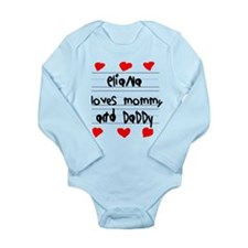 Eliana Loves Mommy and Daddy Long Sleeve Infant Bo