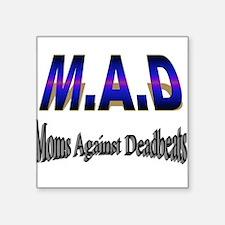 "M.A.D Square Sticker 3"" x 3"""