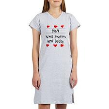Ellen Loves Mommy and Daddy Women's Nightshirt