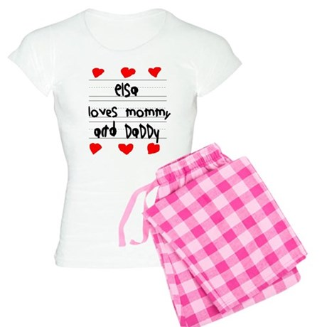 Elsa Loves Mommy and Daddy Women's Light Pajamas