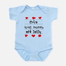 Elvira Loves Mommy and Daddy Infant Bodysuit