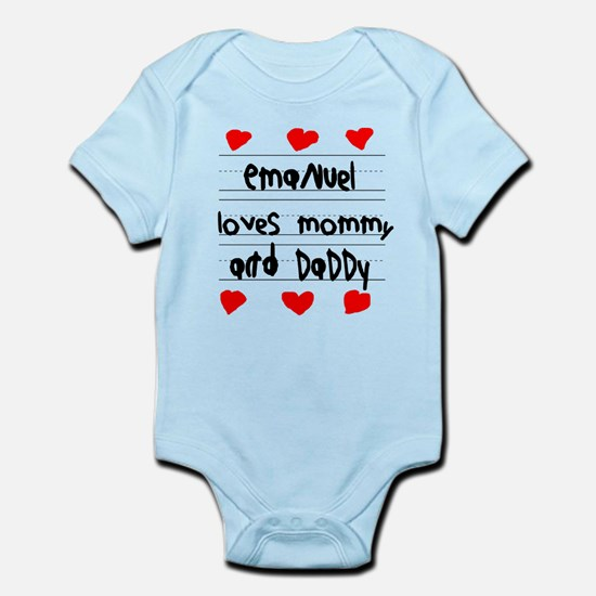 Emanuel Loves Mommy and Daddy Infant Bodysuit