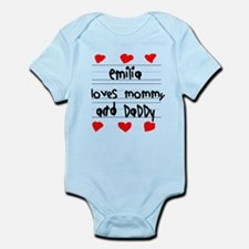 Emilia Loves Mommy and Daddy Infant Bodysuit
