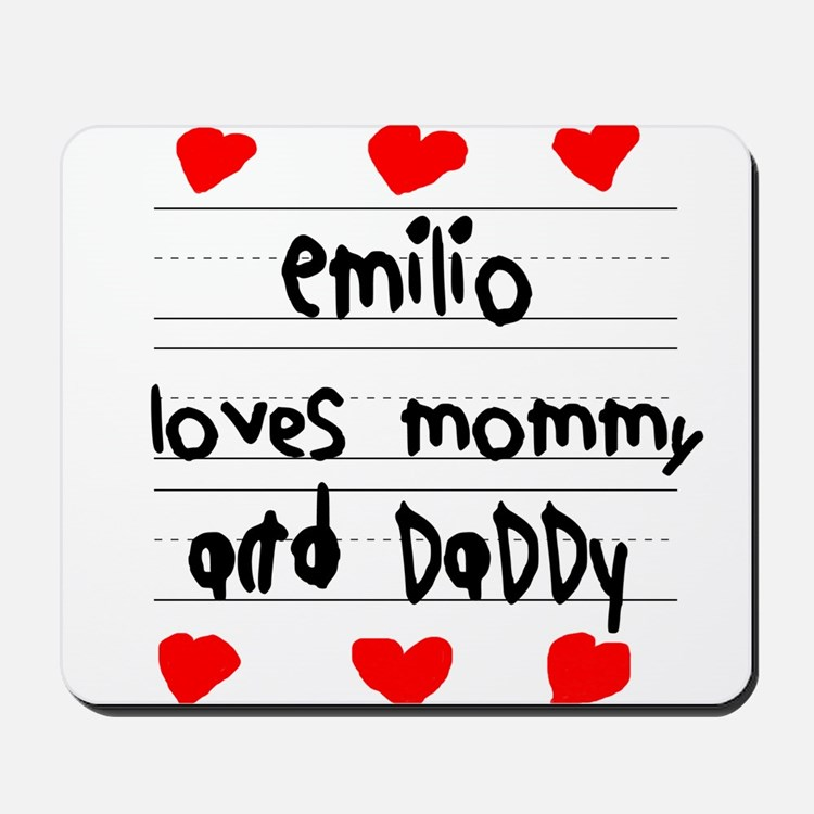 Emilio Loves Mommy and Daddy Mousepad