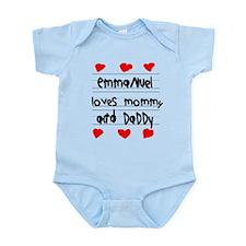 Emmanuel Loves Mommy and Daddy Infant Bodysuit