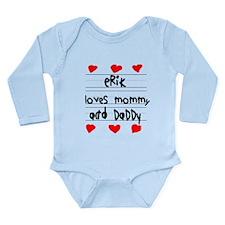 Erik Loves Mommy and Daddy Onesie Romper Suit