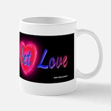 Love and let love cursive Mug