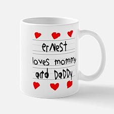 Ernest Loves Mommy and Daddy Mug