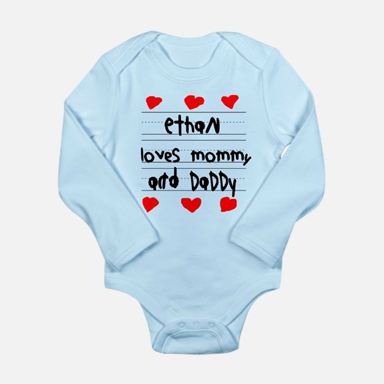 Ethan Loves Mommy and Daddy Long Sleeve Infant Bod