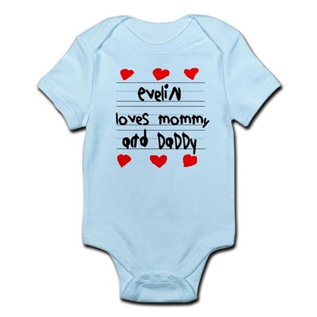 Evelin Loves Mommy and Daddy Infant Bodysuit