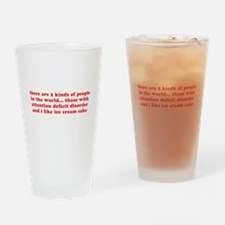 ADD ADHD Funny Quote Humor - Red Drinking Glass