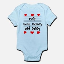 Evie Loves Mommy and Daddy Infant Bodysuit