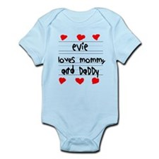 Evie Loves Mommy and Daddy Onesie