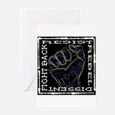"""""""Resistance Fist"""" Greeting Cards (Pk of 10)"""