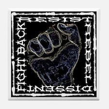 """Resistance Fist"" Tile Coaster"
