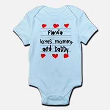 Flavia Loves Mommy and Daddy Infant Bodysuit