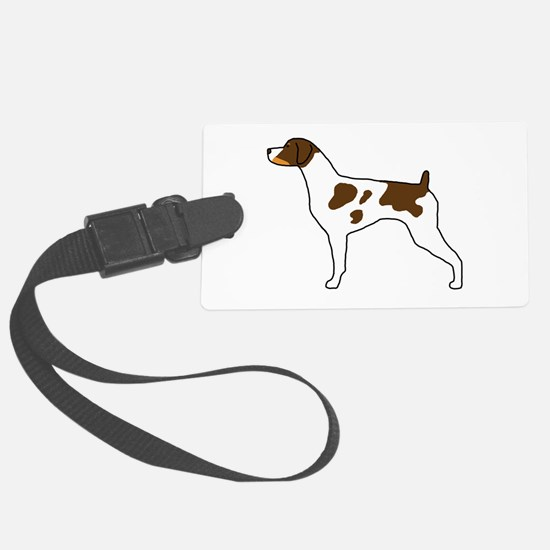 Tri-Color Brittany Large Luggage Tag