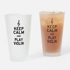 Keep Calm Violin Drinking Glass