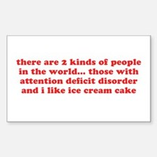ADD ADHD Funny Quote Humor - Red Decal