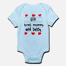 Gia Loves Mommy and Daddy Infant Bodysuit
