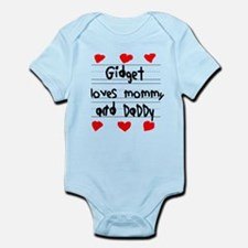 Gidget Loves Mommy and Daddy Infant Bodysuit